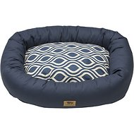 West Paw Bumper Bed, Cobalt Groove, X-Large