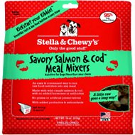 Stella & Chewy's Savory Salmon & Cod Meal Mixers Grain-Free Freeze-Dried Dog Food, 18-oz bag