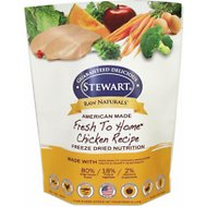 Stewart Raw Naturals Chicken Recipe Grain-Free Freeze-Dried Dog Food, 12-oz bag