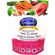 Stewart Raw Naturals Chicken & Salmon Recipe Grain-Free Freeze-Dried Dog Food, 12-oz bag
