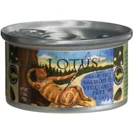 Lotus Salmon & Vegetable Pate Grain-Free Canned Cat Food, 2.75-oz, case of 24