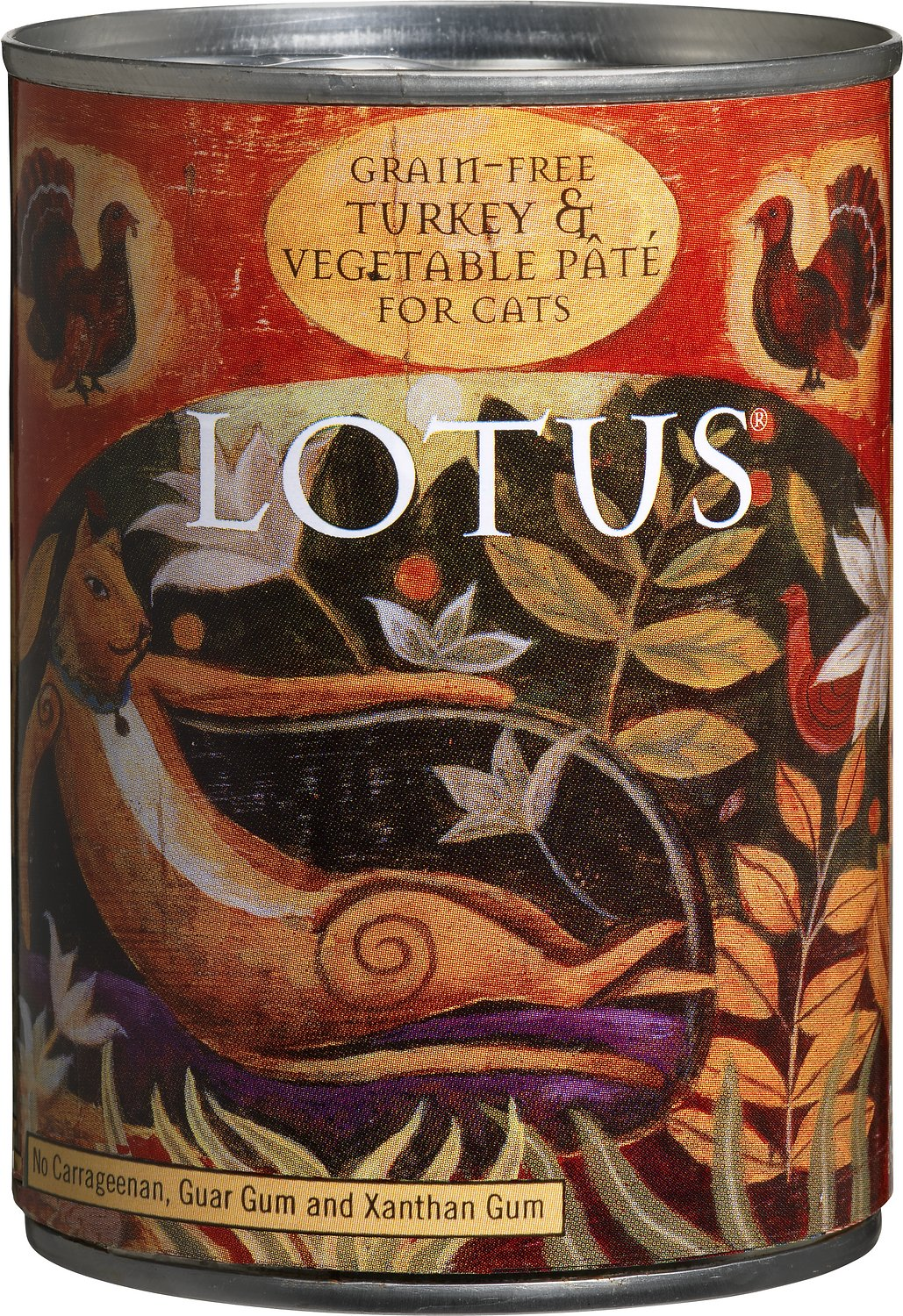 lotus turkey u0026 vegetable pate grain free canned cat food 12 5 oz