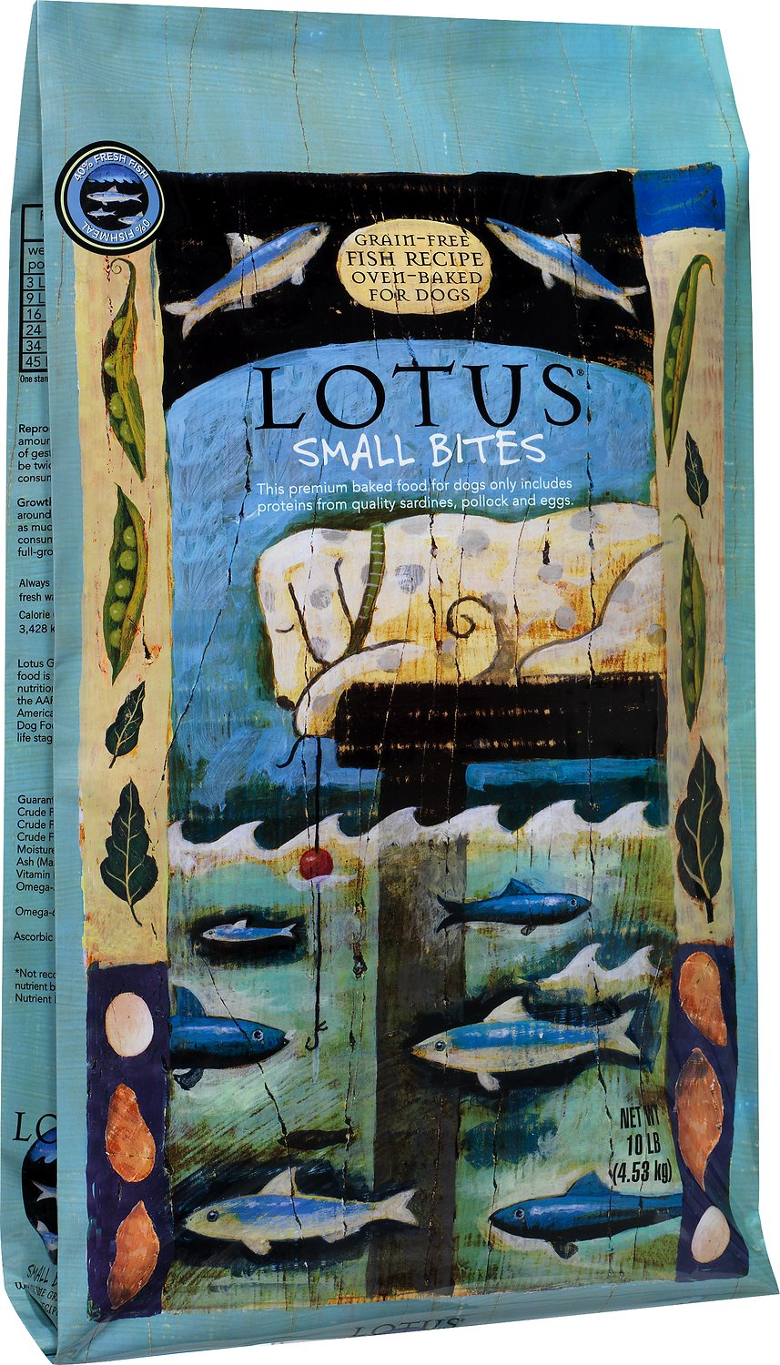 Lotus Oven-Baked Fish Small Bites Recipe Grain-Free Dry Dog Food, 10 ...