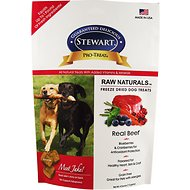 Stewart Pro-Treat Raw Naturals Real Beef with Berries & Flaxseed Freeze-Dried Dog Treats, 4-oz bag