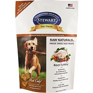 Stewart Pro-Treat Raw Naturals Real Turkey with Berries & Flaxseed Freeze-Dried Dog Treats, 4-oz bag