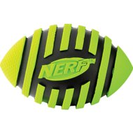 Nerf Dog Spiral Squeak Football Dog Toy, Color Varies, 3.5-in