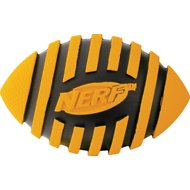 Nerf Dog Spiral Squeak Football Dog Toy, 5-inch