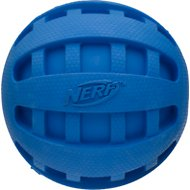 Nerf Dog Checker Squeak Ball Dog Toy, Color Varies, 4-inch