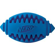 Nerf Dog Teether Football Dog Treat Toy, Color Varies, 3.25-inch