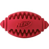 Nerf Dog Teether Football Dog Treat Toy, Color Varies, 5-in