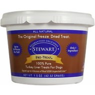 Stewart Pro-Treat Turkey Liver Freeze-Dried Dog Treats, 1.5-oz tub