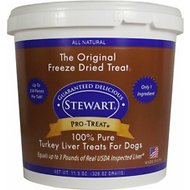 Stewart Pro-Treat Turkey Liver Freeze-Dried Raw Dog Treats, 11.5-oz tub