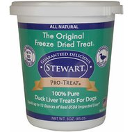Stewart Pro-Treat Duck Liver Freeze-Dried Raw Dog Treats, 3-oz tub