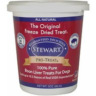 Stewart Pro-Treat Bison Liver Freeze-Dried Dog Treats, 3-oz tub