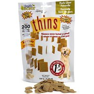 Omega Paw Health Bone Pork Liver Thins for Dogs