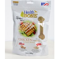 Omega Paw Health Bone Chicken Chew Bones for Dogs, Small