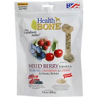 Omega Paw Health Bone Mixed Berry Chew Bones for Dogs, Small