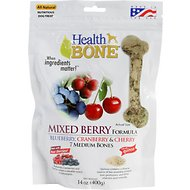 Omega Paw Health Bone Mixed Berry Chew Bones for Dogs, Medium