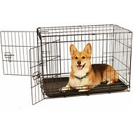 Carlson Pet Products Secure & Compact Double Door Wire Dog Crate, Medium