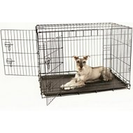 Carlson Pet Products Secure & Compact Double Door Wire Dog Crate, Large