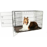 Carlson Pet Products Secure & Compact Double Door Wire Dog Crate, Giant