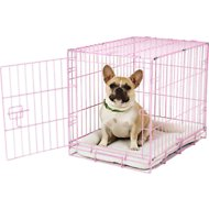 Carlson Pet Products Secure & Compact Single Door Wire Dog Crate, Pink