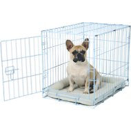 Carlson Pet Products Secure & Compact Single Door Wire Dog Crate, Blue