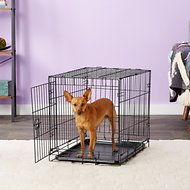 Carlson Pet Products Secure & Compact Single Door Wire Dog Crate, Small