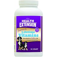 Health Extension Lifetime Vitamins Chewable Dog Tablets, 30 count