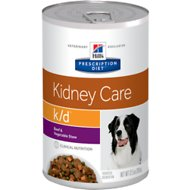 Hill's Prescription Diet k/d Kidney Care Beef & Vegetable Stew Canned Dog Food, 12.5-oz, case of 12