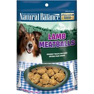 Natural Balance Delectable Delights Lamb Meatballs Dog Treats, 4-oz bag