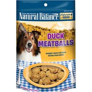 Natural Balance Delectable Delights Duck Meatballs Dog Treats, 4-oz bag