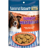 Natural Balance Delectable Delights Turkey Meatballs Dog Treats, 4-oz bag