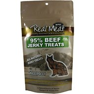 The Real Meat Company 95% Beef Jerky Bites Cat Treats, 3-oz bag