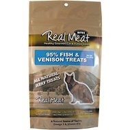 The Real Meat Company 95% Fish & Venison Jerky Bites Cat Treats, 3-oz bag