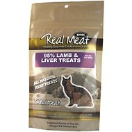 The Real Meat Company 95% Lamb & Liver Jerky Bites Cat Treats, 3-oz bag