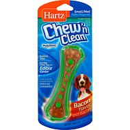 Hartz Chew 'n Clean Dental Duo Dog Treat & Chew, Small/Medium