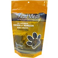 The Real Meat Company 95% Chicken & Venison Jerky Bitz Dog Treats, 12-oz bag