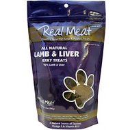 The Real Meat Company 95% Lamb & Liver Jerky Bitz Dog Treats, 12-oz bag