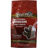 The Real Meat Company 95% Venison Jerky Bitz Dog Treats, 4-oz bag