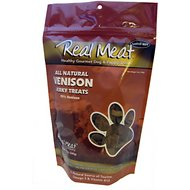 The Real Meat Company 95% Venison Jerky Bitz Dog Treats, 12-oz bag
