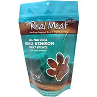 The Real Meat Company 95% Fish & Venison Jerky Bitz Dog Treats, 12-oz bag