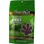 The Real Meat Company 95% Beef Jerky Bitz Dog Treats, 4-oz bag