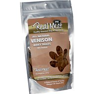 The Real Meat Company 95% Venison Jerky Stix Dog Treats, 8-oz bag