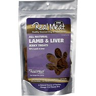 The Real Meat Company 95% Lamb & Liver Jerky Stix Dog Treats, 8-oz bag