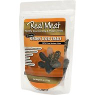 The Real Meat Company Venison Liver Crunchies Air-Dried Dog Treats, 4-oz bag
