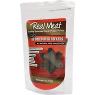 The Real Meat Company Duck Neckers Air-Dried Dog Treats, 6-oz bag