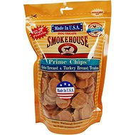 Smokehouse USA Chicken Breast & Turkey Breast Tendons Prime Chips Dog Treats, 16-oz bag