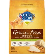 Nature's Recipe Grain-Free Indoor Chicken & Potato Recipe Dry Cat Food, 11-lb bag