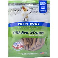 N-Bone Puppy Bone Chicken Flavor Dog Treats, Mini